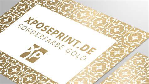 Visitenkarten Gold by Visitenkarten Mit Sonderfarbe Gold Visitenkarten