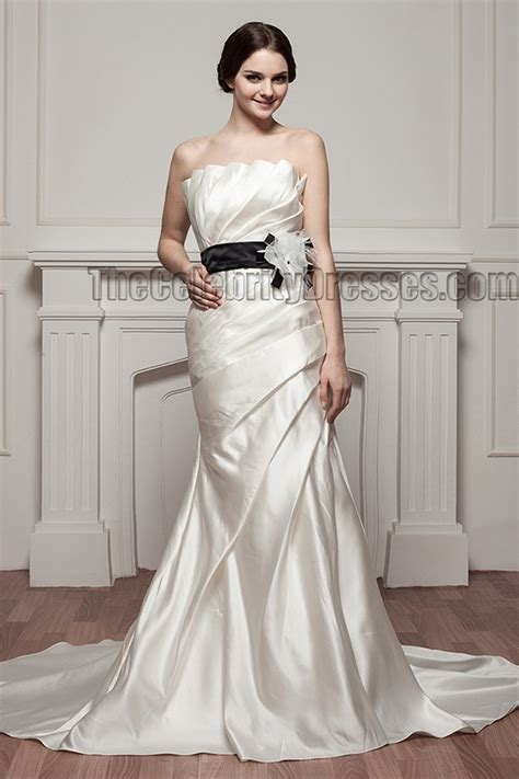 inspired mermaid strapless wedding dress with a