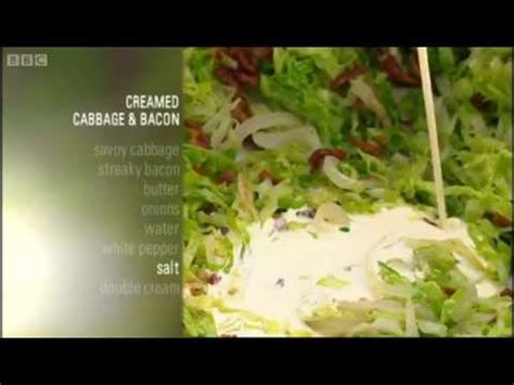 new british classics creamed cabbage and bacon recipe gary rhodes new british classics bbc youtube