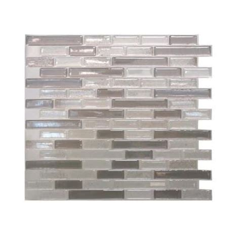 home depot decorative tile smart tiles muretto 10 25 in w x 9 125 in h beige mosaic