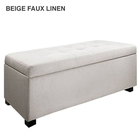 fabric storage ottoman bench fabric pu leather bench storage ottomans 9 colours buy