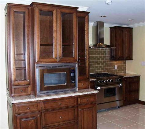 Kitchen Cabinets With Microwave Shelf Kitchen Microwave Cabinet Home Furniture Design