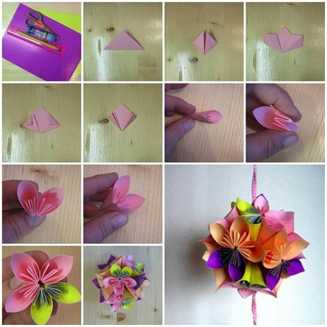 diy origami paper flower