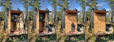 modern off grid cabin built by father amp son goes back to