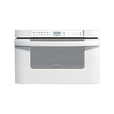 Lowes Microwave Drawer by Shop Sharp 23 875 In 1 2 Cu Ft Microwave Drawer White At
