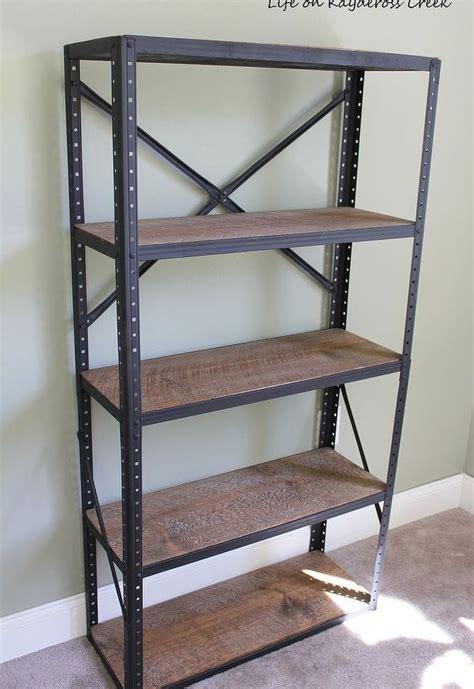 diy industrial style bookshelf hometalk