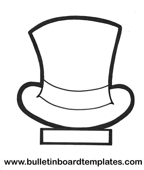 hat templates top hat template