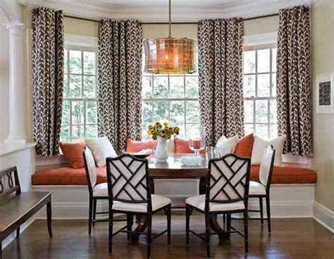 Dining Room Drapery Ideas Dining Room Bay Window Treatment Ideas