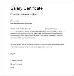 Request Letter Format Salary Certificate sle request letter for salary certificate cover