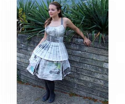 How To Make Paper Ls - five beautiful dresses made using recycled paper green