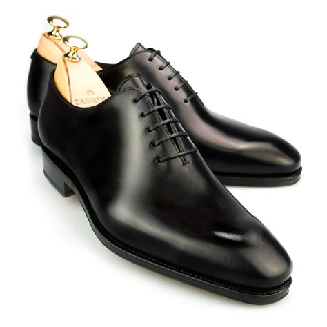oxford black shoes black wholecut oxford shoes carmina