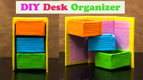How To Make Desk Organizers by How To Make A Cardboard Desk Organizer