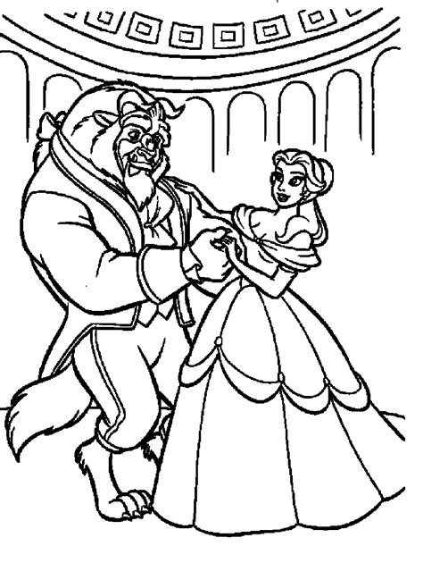 beauty and the beast dancing coloring pages best cartoon disney beauty and the beast coloring pages