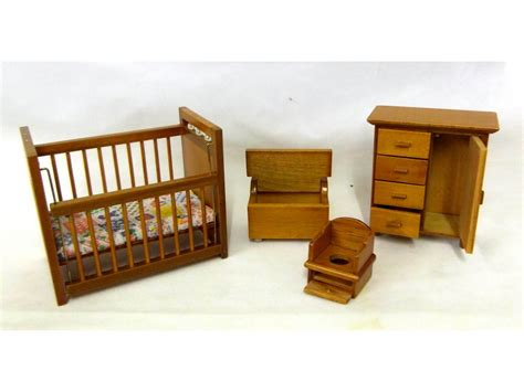 1 12 Walnut Wood Nursery Furniture Set Town Square Walnut Nursery Furniture Sets