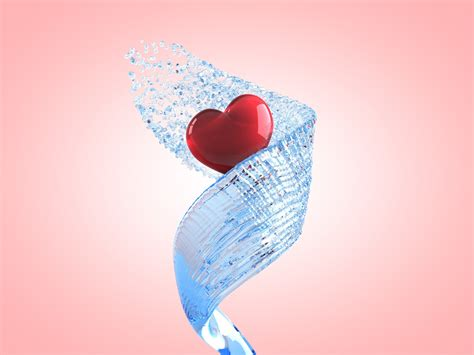 imagenes love 3d love heart 3d wallpapers top world pic