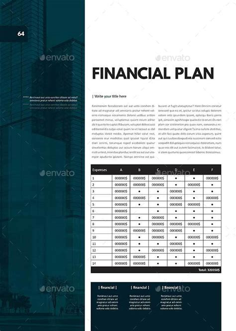 professional business plan template professional business plan template by keboto graphicriver