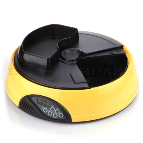 automatic feeder with timer 4 meals programmable timer automatic pet cat food feeder water tray bowl ebay