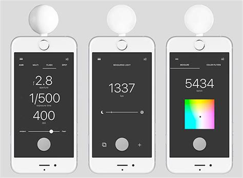 light color temperature meter lumu power turns the iphone into a light flash and color