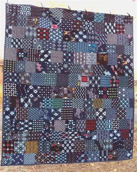 Japanese Patchwork Fabric - indigo quilt japanese kasuri boro cotton patchwork textile