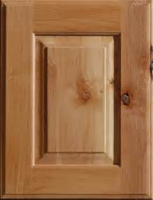 Knotty alder wood cabinet door with a natural finish from dura supreme
