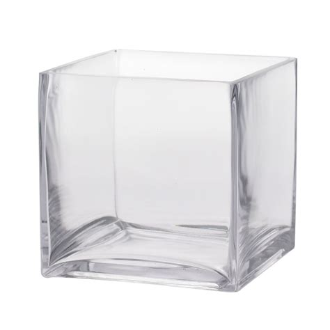 Glass Cube Vases by 16cm Glass Cube Easy Florist Supplies