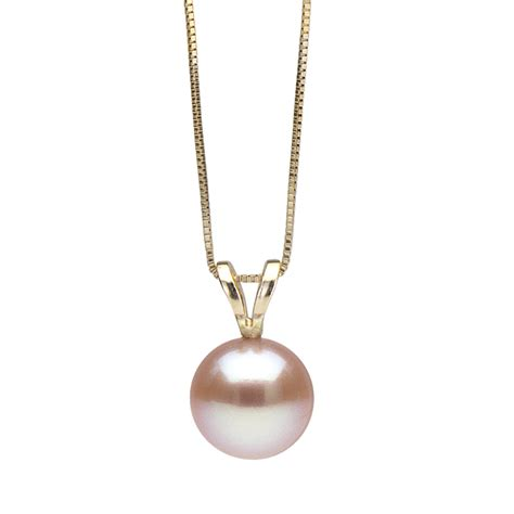 pink freshwater classic pearl pendant your choice 7 0 10 0mm