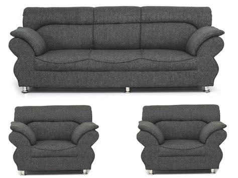Grey Sofa Set Deals Bls Grey 3 1 1 Sofa Set Rs 30 500 Five Seater Deals4m