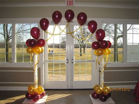 elegant wedding balloon columns   It?s My Party Wedding