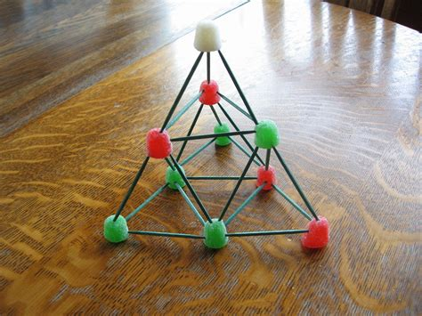 almost unschoolers gumdrop and toothpick sierpinski