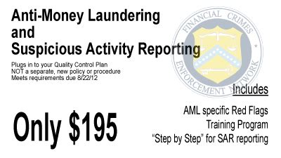 anti money laundering program template aml sar and bsa policy mortgage manuals