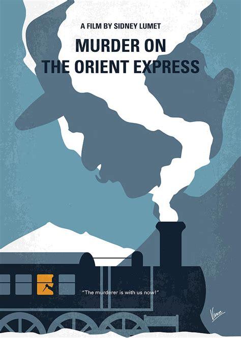 My Murder no883 my murder on the orient express minimal poster