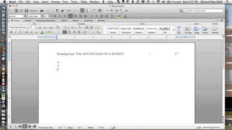 apa format youtube mac setting up apa 6e headers in word 2011 mac youtube