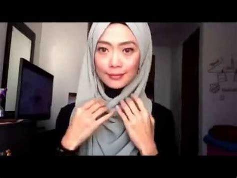 tutorial jilbab paris youtube tutorial hijab pashmina yang simpel untuk acara arisan