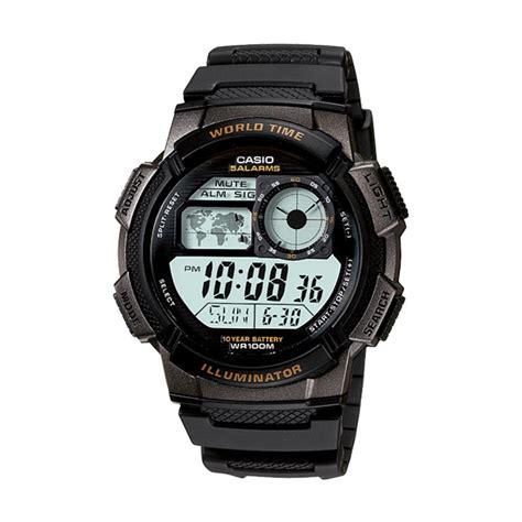 Casio Mrw200h1ev Jam Tangan Pria jual blibli anniv casio ae 1000w 1a sport black jam