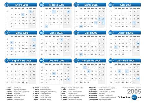 Calendario Octubre 2005 Calendario 2005