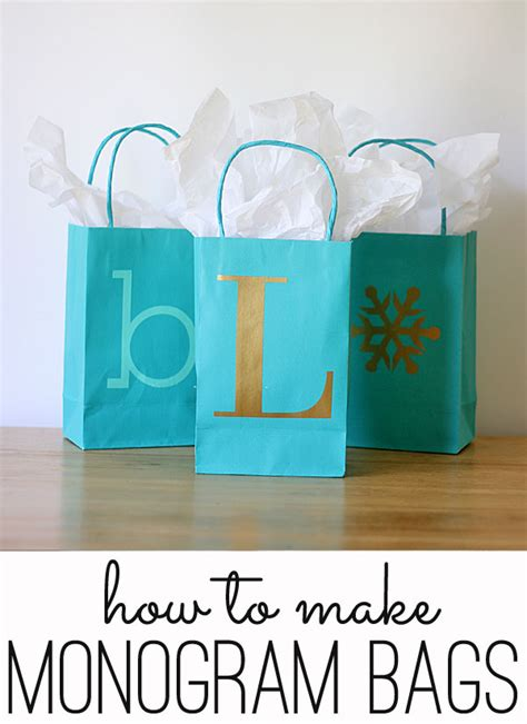 easy monogrammed gift bags perfect   holiday