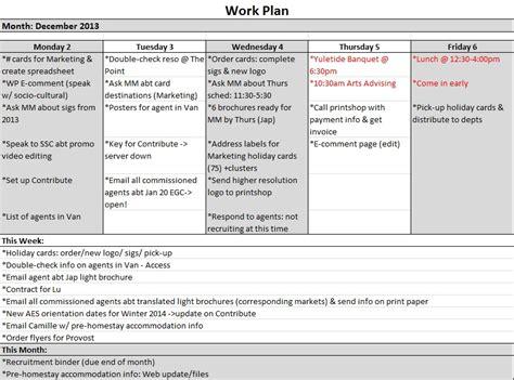 work plan doc 585595 sle work plan work plan template 12