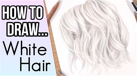 how to draw with colored pencils how to draw white hair in colored pencil drawing
