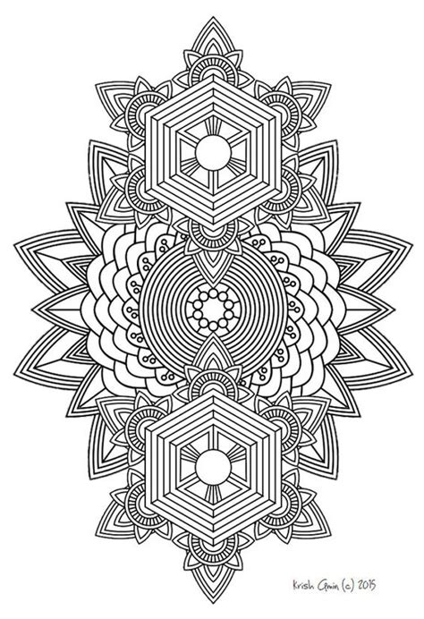 free printable mandala coloring pages for adults pdf printable intricate mandala coloring pages instant