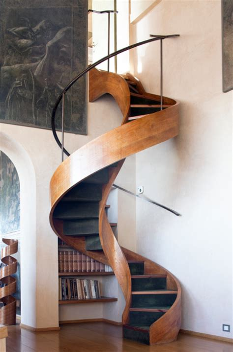 Wooden Spiral Stairs Design 50 Stairs From Around The World Inspirationfeed