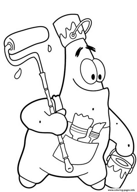 funny spongebob coloring pages funny patrick star s spongebob cartoon1d0c1 coloring pages