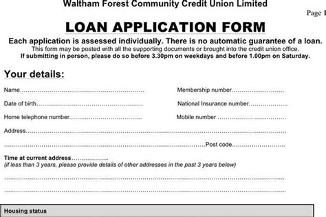 Credit Union Template Application Form Free Premium Templates Forms Sles For Jpeg Png Pdf Word