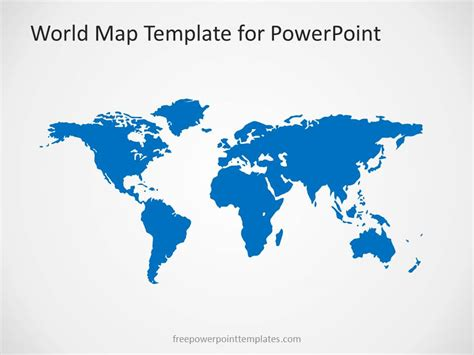 00004 01 World Map 2 Free Powerpoint Templates World Map Powerpoint Template Free