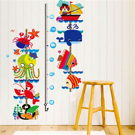 growth chart wall sticker child height decor room growth chart measure wall