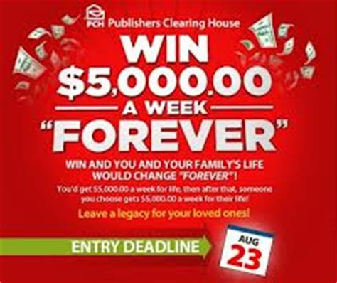 Does Anyone Really Win Pch - an inside look at winning 5000 a week forever official coupon review