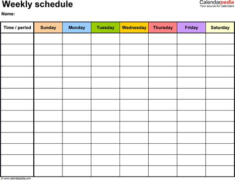 5 Free Employee Schedule Template Authorization Letter Free Staff Schedule Template