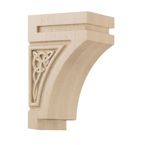 Architectural Wood Corbels 01600628hm1 Gaelic Decorative Wood Corbel Small Maple