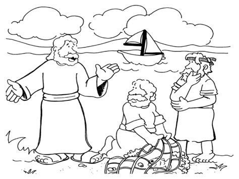 coloring pages jesus calling his disciples jesus calls his disciples coloring page sketch coloring page