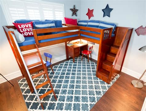 Combine Two Or More Beds Corner Lofts Triple Quad Bunk Corner Loft Bunk Beds
