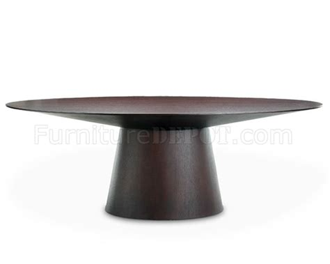 sullivan wenge finish modern dining table w oval top